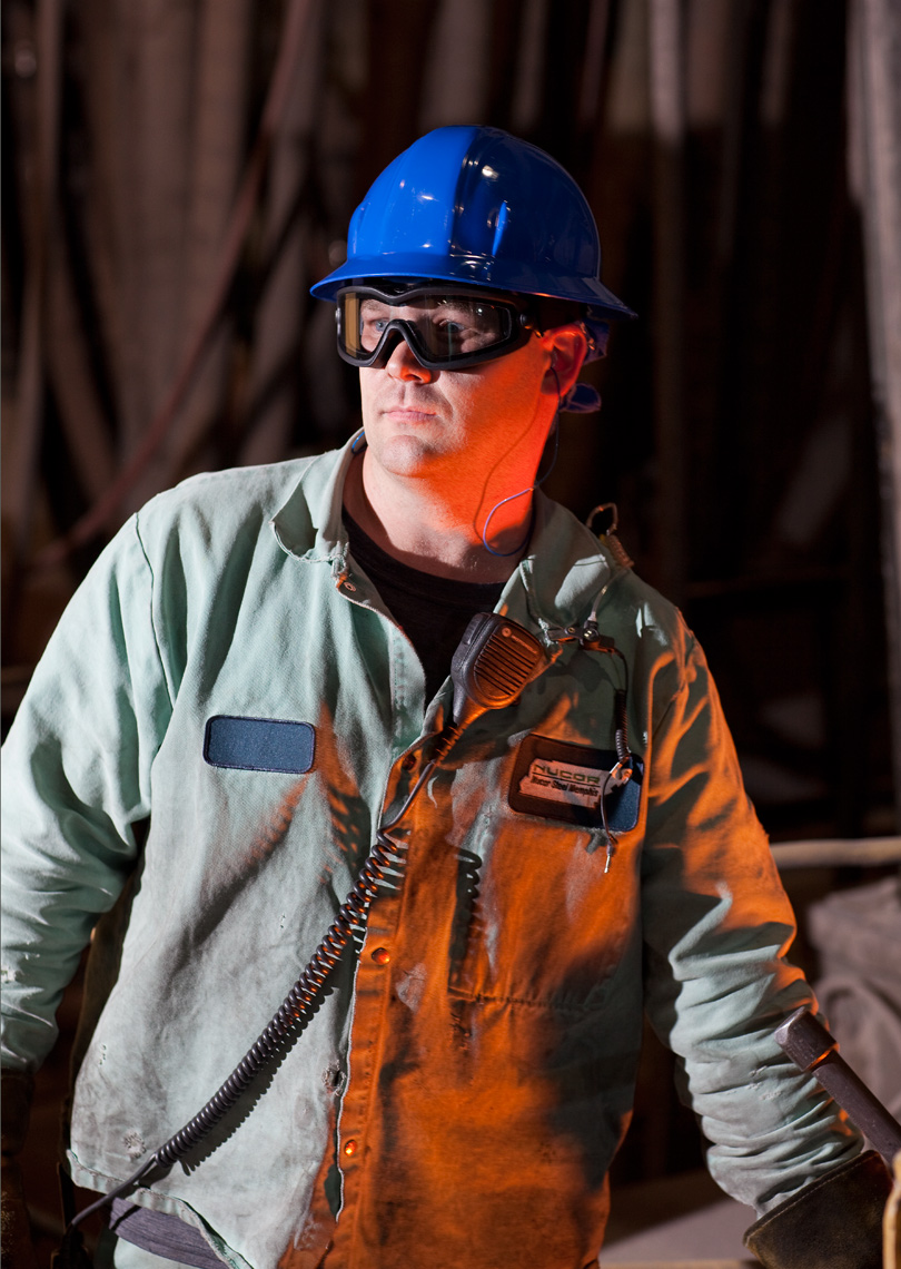 Portrait of steel mill operator