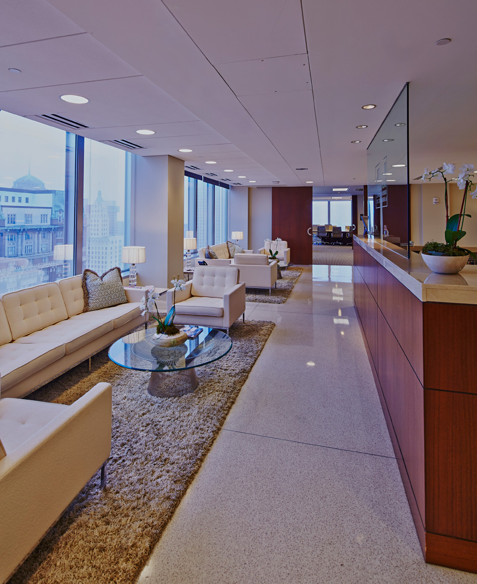 Law Firm Interior  photographed by Memphis Architectural Photographer