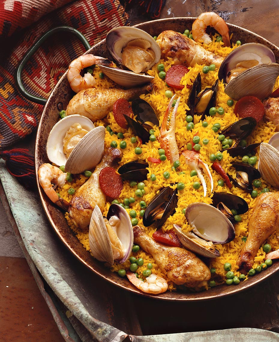 Paella, the Spanish-inspired dish