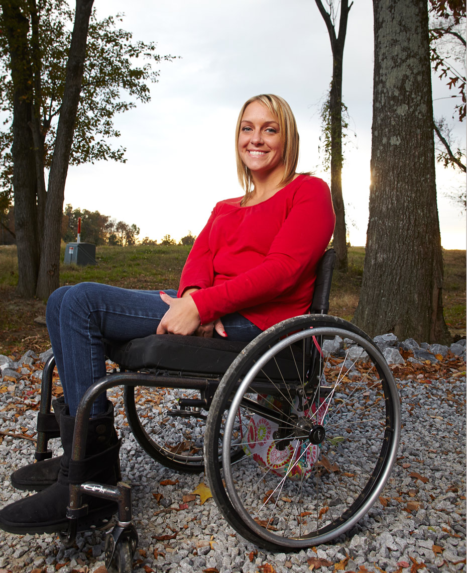 Young mother paralyzed in school shooting in 1997